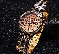 nova leopardo moda luminosa mãos diamante mostrador redondo requintado luxo de quartzo relógio da pulseira das senhoras