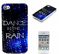 COCO FUN® Walking In The Rain Pattern Soft TPU IMD Back Case Cover for iPhone 4/4S