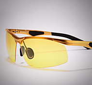 Sunglasses Men's Lightweight Wrap Gold Sunglasses / Driving / Night Vision Goggles Half-Rim