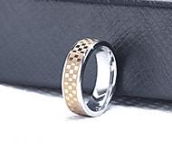 Z&X® Men's Party/Casual Fashion Grid Titanium Steel Rings