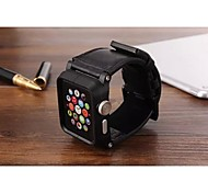 Original chicago collection WatchBand For Apple Watch Strap aluminum tray Genuine Leather Wrist Band Strap 42mm