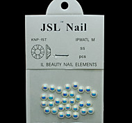 Pearl5mm 30pcs/lot Beauty AB Color Half Round Pearls 5mm Imported Pearls Wheel Rhinestones Beads 3D DIY Nail Art
