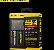 carica controllata caricatore intelligente agli ioni di litio / NiMH NiteCore i2 microcomputer