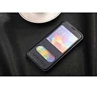 Pour Samsung Galaxy Coque Avec Support / Avec Ouverture / Clapet Coque Coque Intégrale Coque Couleur Pleine Cuir PU Samsung S5