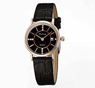 Women's Fashion Watch Japan Original Movement Ultra-thin Dial Design Genuine Leather Strap Luxury Brand Watches