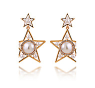 Personality And the Wind Star Pearl Earrings