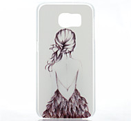 For Samsung Galaxy Case Frosted Case Back Cover Case Sexy Lady PC Samsung S6
