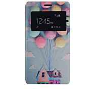 Dream Home Pattern PU Leather Phone Case For Sony C4