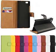 Genuine Leather Wallet Case for Huawei P8 Lite (Assorted Colors)