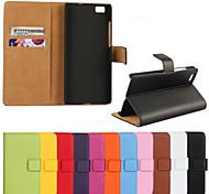 caja de la carpeta del cuero genuino para Lite p8 huawei (colores surtidos)