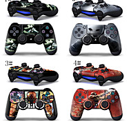 2PCS Sony PlayStation 4 Controllers Protective Vinyl Skins Decals Cove