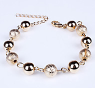 Women's Peals Gold Beads Bracelet