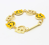 Europe and America Gold Smile Face Letter Bracelet 1pc
