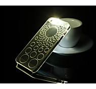 moda callerid caso de telefone luminosa shell telefone lanterna traseira criativo para iphone 6 casos círculo padrão