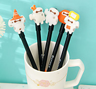 Baymax Pattern Black Ink Gel Pen(Random Color)