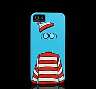 patrón de dibujos animados duro para el iphone 5 caso para el iphone 5 s
