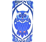 COCO FUN® Deep Blue Owl Pattern Hard PC IMD Back Case Cover for iPhone 6 Plus