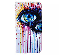 Color Tears  Pattern PU Leather Phone Case For iPhone 6