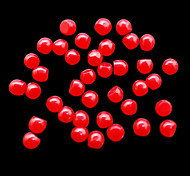 CandyPearl5mm 100pcs/lot Nail Pearls Red Candy Pearls 5mm Half Round Shape Nail Design Cell Phone Dress Decoration