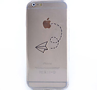 Slim Transparent Flight Pattern Soft Phone Case for iPhone 6S Plus/6 Plus