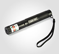 JD301 Green Laser Pointer 532nm Focusable Beam with Key(18650 Battery, Charger)