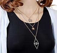 HUALUO®Multi-Pointed Star Diamond Eye Diamond Necklace