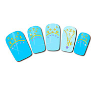 Zipper Design Hot Stamping Nail Art Stickers