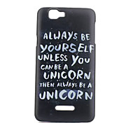 Letter Pattern PC Phone Case For Wiko RAINBOW