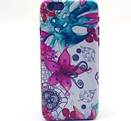 COCO FUN® Abstract Flower Pattern Hard PC IMD Back Case Cover for iPhone 6