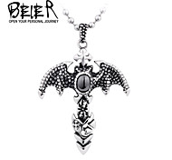 Winged With CZ stone Dragon Wing Necklace Pendant