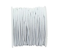1 Roll 21m Long White Round Elastic Beading Thread Cord 1mm