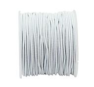 1 Rolle 21m langen weißen runden elastisches Schmuckfaden Kabel 1mm