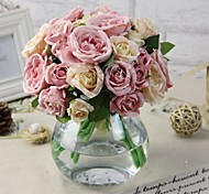 Silk / Plastic Peonies Artificial Flowers