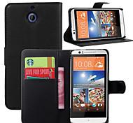 litchi intorno parentesi aperta di cuoio del telefono della carta del raccoglitore adatto per HTC Desire 510 (colori assortiti)