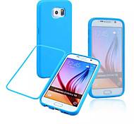 écran tactile multicolore à gauche et à droite pour ouvrir TPU cas de téléphone pour Samsung Galaxy S6 (couleurs assorties)