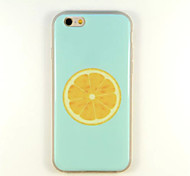 Orange Pattern TPU And IMD Soft Case For iPhone 5/5S