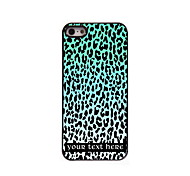 Personalized Gift Blue Leopard Print Design Aluminum Hard Case for iPhone 5/5S