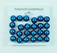 Stainless Steel Earring Stud Earrings Daily/Casual 1set(12pair)