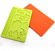stampo in silicone stampi da forno fondente / cioccolato / torta decorazione (colore casuale)