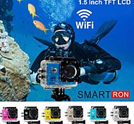 """smartron 1,5 wifi tft 170 degrés fhd 1080p étanche le sport d'action caméra vidéo numérique """""""