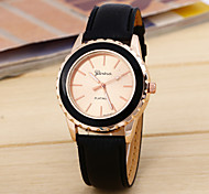 Geneva Women's Men's Simple Belt Dial Round Belt Chinese Watch Movement(Assorted Colors) Cool Watches Unique Watches