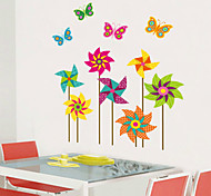 Colorful Windmill PVC Wall Sticker Wall Decals