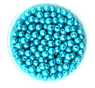 Beadia 100g(Approx 1000Pcs)  ABS Pearl Beads 6mm Round Turquoise Color Plastic Loose Beads For DIY Jewelry Making