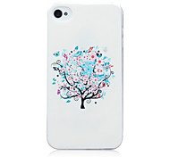 White Trees Pattern TPU Soft Back Cover Case for iPhone 4/4S