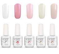 Gelpolish Nail Art Soak Off UV Nail Gel Polish Color Gel Manicure Kit 5 Colors Set S104