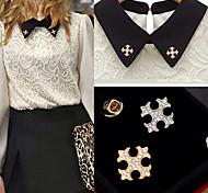 European Fashion Cross Alloy Brooch (1Pair)