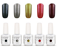 Gelpolish Nail Art Soak Off UV Nail Gel Polish Color Gel Manicure Kit 5 Colors Set S117
