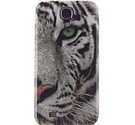 weiße Tiger-Muster-TPU weiche Tasche für Samsung Galaxy i9500 s4