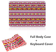 High Quality Colorful Bohemia Pattern PVC Full Body Case Cover and Keyboard Protective Flim for Macbook Pro 13.3 inch