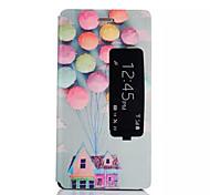 motif de ballon cas de support de qualité pour Huawei p8